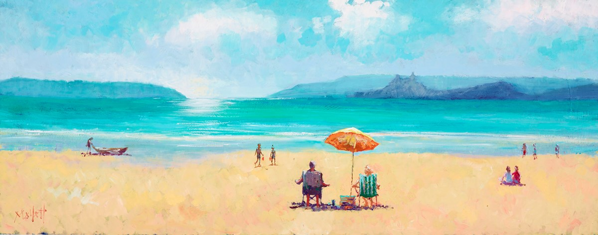 A Beach to Ourselves I by timmy mallett -  sized 30x12 inches. Available from Whitewall Galleries